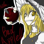 Bad Apple!!魔理沙=д=描いてみた