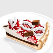 パックンフラワーのチョコレートタルト