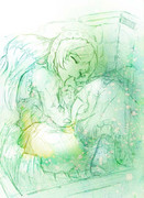 【ラフ】翠星石の寝顔