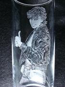 手彫りグラス キース・グッドマン