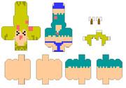 【Minecraft×ペパクラ】ゾンゾン【展開図】