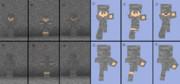 【Minecraft】石パーカー(迷彩?)