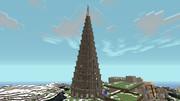 MineCraft、せっせとバベルの塔を建てる静画:02