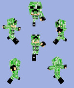 【Minecraft】軍服:戦闘服(クリーパー迷彩)