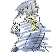 うろ覚えで描いた承太郎