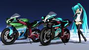 【MMD】七葉HTレーシングミク 痛バイク