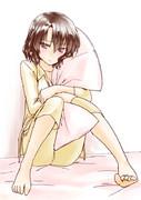 「この枕…一人で使うには大きすぎるんです…///」