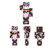 【Minecraft】乳牛着ぐるみ娘【スキン】