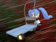 【MMD静画で】しゅしゅミクも台車でGO! 動くVer.【GIFテスト】