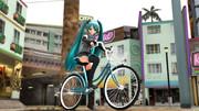らぶ式自転車ミクさん