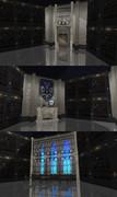 【MMDステージ】黒紋塔(小部屋)作ってみた