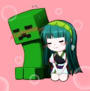 ずん子×クリーパー