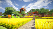【Minecraft】山の麓に村を作る-TEX-D2-RC6
