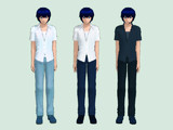 【KAITO】 半袖シャツ~色変えテクスチャ
