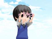 ミニ日本さんは眼鏡に挑戦中のようです