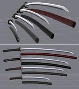 【MMD-OMF3】柿竹式日本刀v2【バージョンアップ】