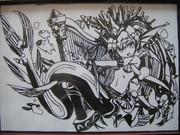 パズドラ 大海の歌姫・セイレーンの切り絵
