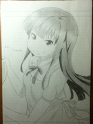 WORKING!!の山田葵を描きました