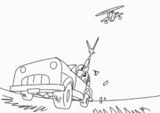 【GIFアニメ】当たらん!