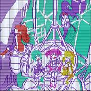 魔法少女まどか☆マギカのOPのラストカットをピアノロールで描いてみた