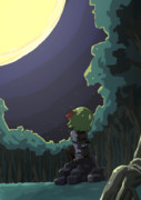 満月と宵闇