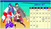 MMDカレンダー・2013年7月【壁紙】