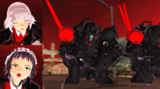 【赤肩】『黒ちゃん、行くよ』『ああ、まかせとけ!』【吸血部隊】