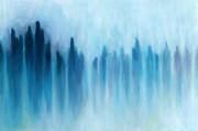 玻璃の雲間に沈む空