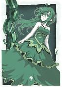 緑ドレスさん