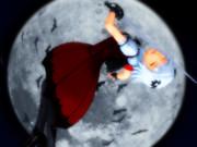 月夜に舞う白