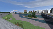【Minecraft】河川敷