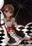傘と女の子とおちむにゃと