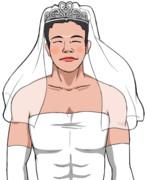 花嫁と化した野獣先輩