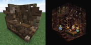 Minecraftで港町ゴリアテの隠れ家を作ってみた【タクティクスオウガ】