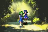森の道に妖精二人