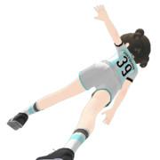 【MMD】初音選手のスーパーシュート!【あるへんてぃーな!】