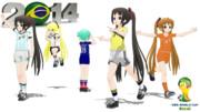 【MMD】いろんなガッツポーズ∠( ゚д゚)/【そんなことよりサッカーしようぜ!】