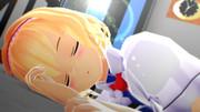 【MMD嫁の寝顔選手権】朝起きたらアリスが横で寝てて訳分からず起こそうとするも寝顔が綺麗で文字数