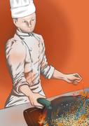 炒飯を調理する中野くん.bmp