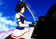 ピアノを弾く摩耶