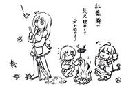 三人娘の1コマ【第1回UTAU作品祭】