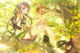 森の少女と弓矢の先生