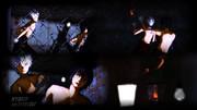 ランタンと裸電球