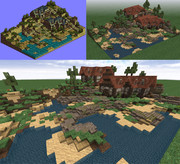 Minecraftで港町ゴリアテを作ってみた【タクティクスオウガ】