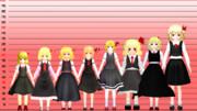 ルーミアモデル身長比較