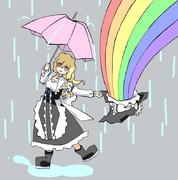 虹を描こう