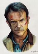 色鉛筆画「Alan Grant」