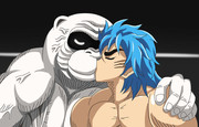 トリコと猿王は幸せなキスをして終了