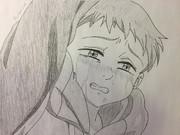 キングの泣き顔描いてみた
