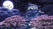 【壁紙配布 16:9】春の夜